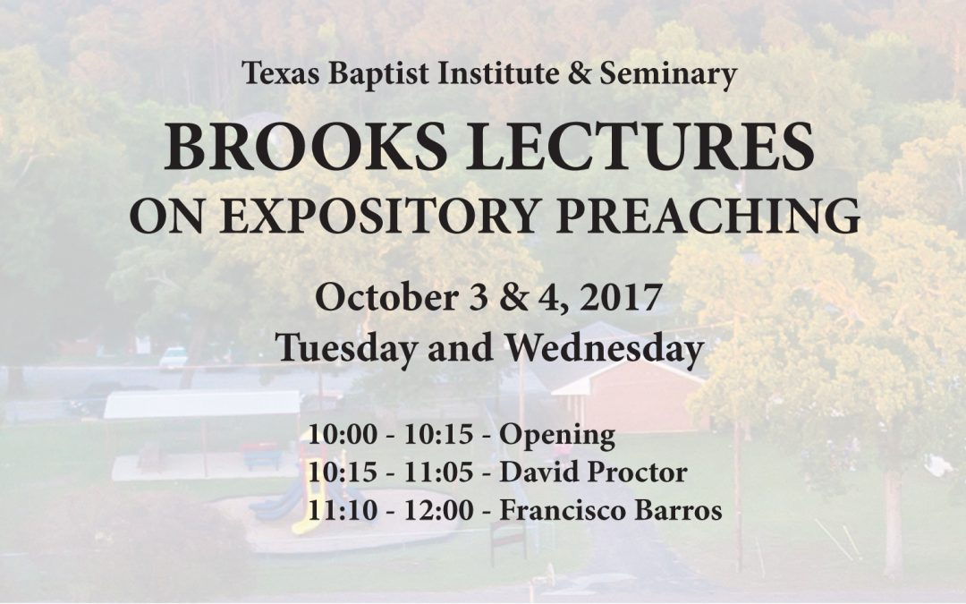 Brooks Lectures – October 3-4, 2017